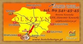 Trasą S 51 Dojazd Główny Hotel Olsztyn Noclegi Restauracja SAK ul. Nad Łyną 6 - Zobacz Mapę