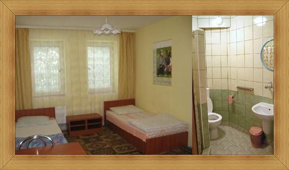 Noclegi Olsztyn Hotel SAK pokoje z natryskiem toaletą i umywalką