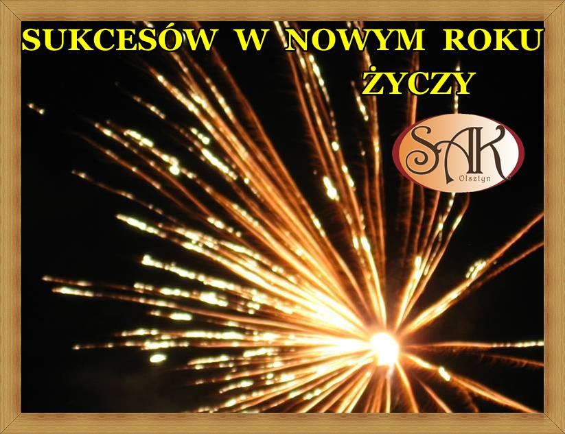 Wielu Sukcesów i Zdrówka Na Nowy Rok Życzy SAK Hotel Olsztyn