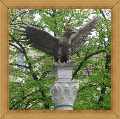 Plac Konsulatu Polskiego Olsztyn Pomnik Orła Białego