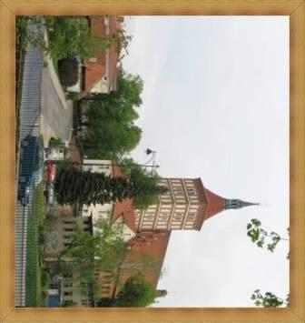 Katedra Olsztyn stare miasto, kamieniczki, rynek, zamek.