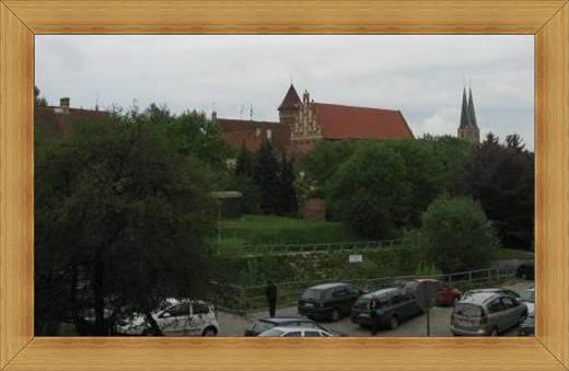 Widok na Zamek Olsztyn Muzeum Warmii i Mazur zabytki eksponaty historia