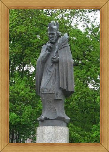 Św. Jan Nepomucen Olsztyn most nad Łyną