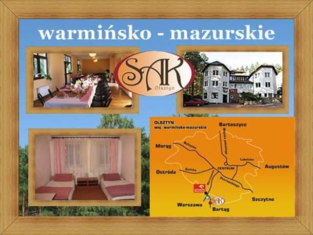 Hotele warmińsko-mazurskie Olsztyn Noclegi Restauracja SAK