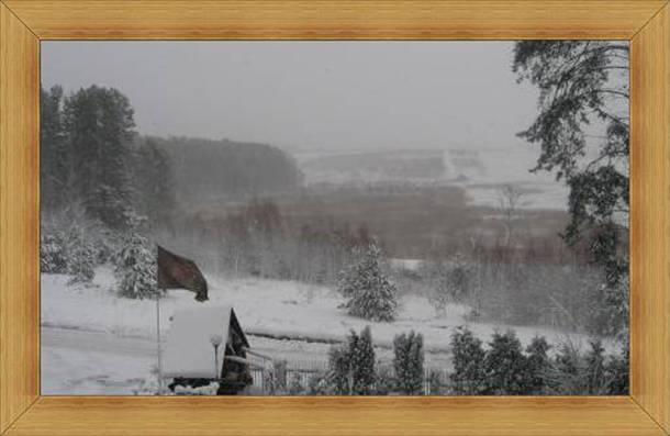 SAK Hotel Olsztyn Restauracja zima widok z okna