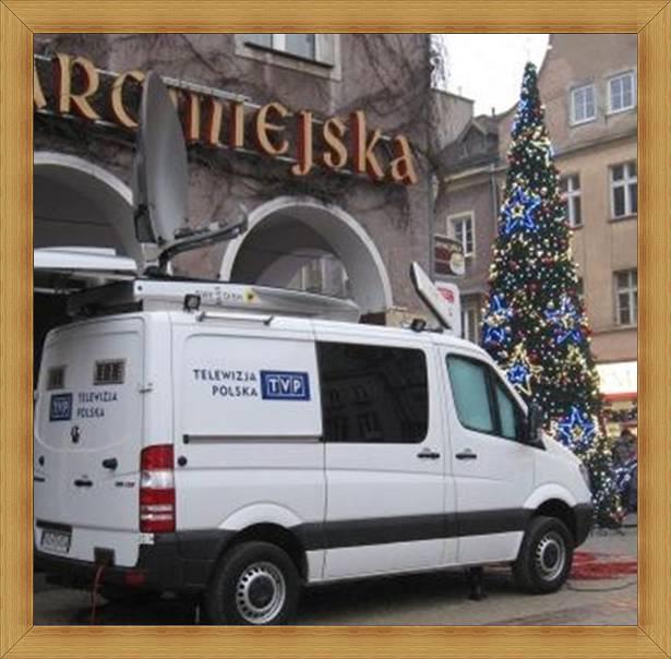 TVP Olsztyn telewizja regionalna transmisje - wóz