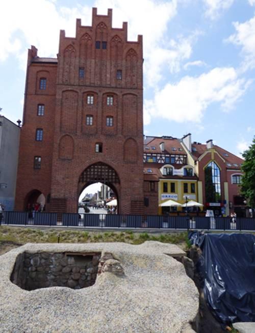 Archeologiczne odkrycie Olsztyn Brama Górna