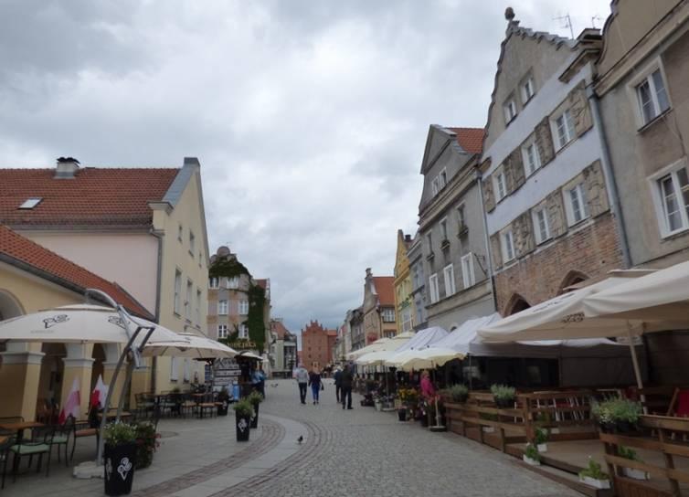 Ul. Staromiejska Olsztyn Kamieniczki