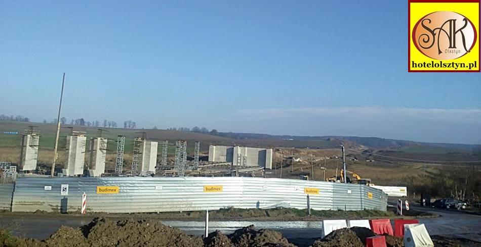 Obwodnica Olsztyna Most na Łynie w budowie