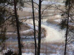 Rzeka Łyna Zimą