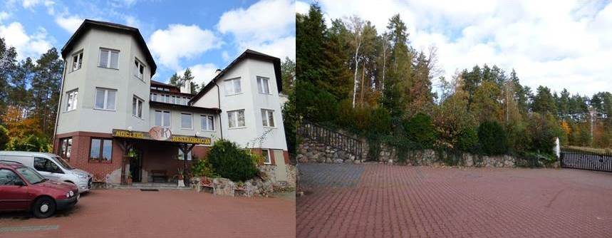 SAK Hotel Noclegi Olsztyn w Naturze - Parking Zamykany